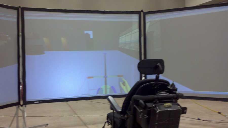 A wheelchair simulator