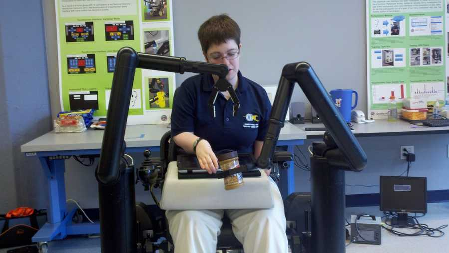 Personal Mobility and Manipulation Appliance (PerMMA) is a wheelchair with robotic arms
