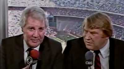 Pat Summerall and John Madden, calling the Giants-Rams playoff game in December 1984.