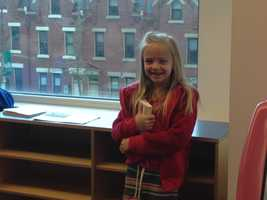"""There was Spider-Man and Batman climbing on ropes, and they were washing the windows,"" said an excited Kamryn Natale."