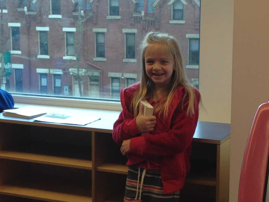 """""""There was Spider-Man and Batman climbing on ropes, and they were washing the windows,"""" said an excited Kamryn Natale."""