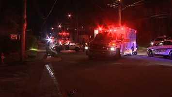 An injured man was found lying in the middle of a street in Pittsburgh's Lincoln-Lemington neighborhood.