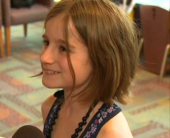 """I thought it was pretty cool,"" 9-year-old Katrina Koenig said."