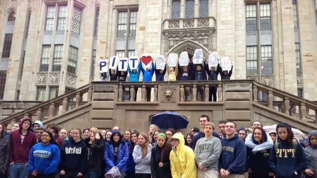 Pitt students support Boston