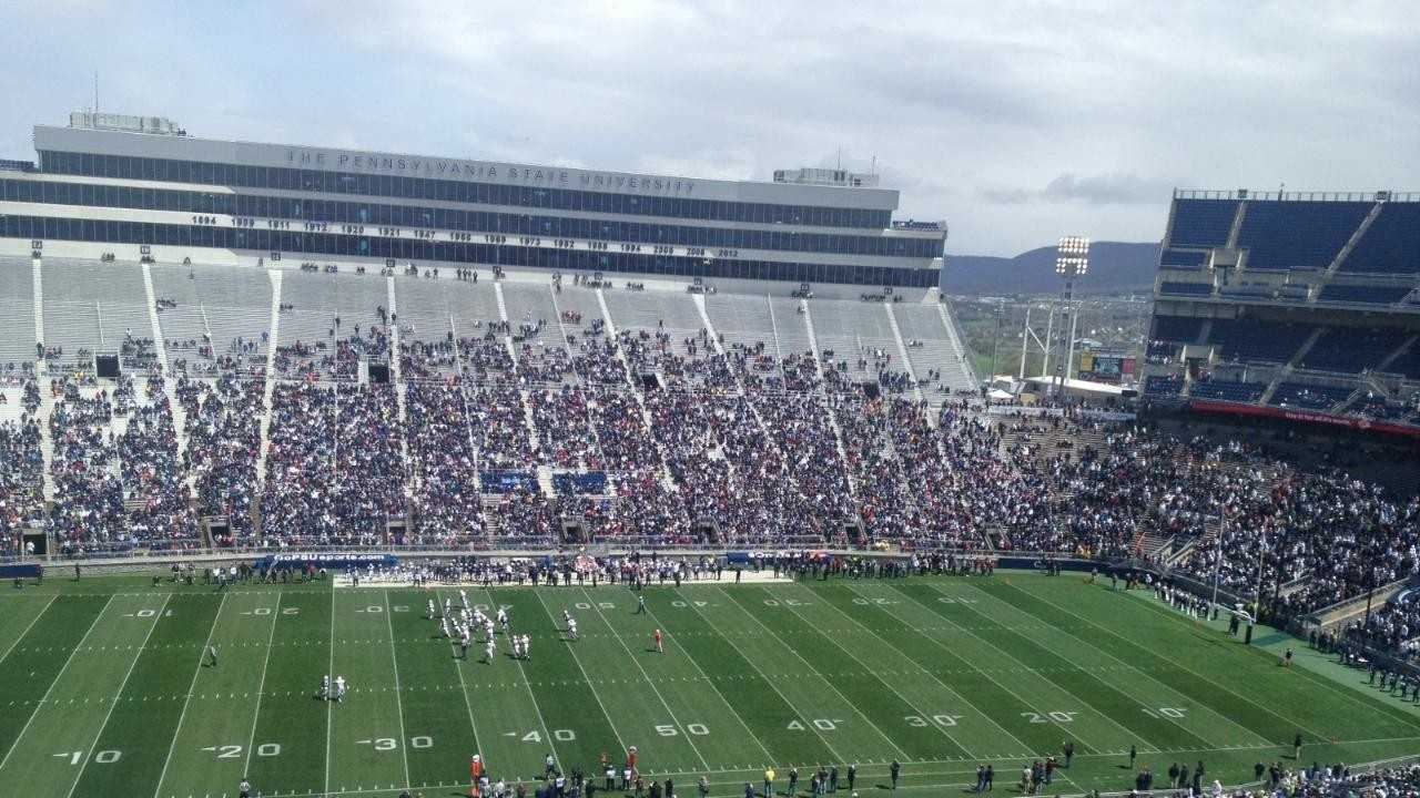 The 2013 edition of the Blue-White Game at Beaver Stadium.
