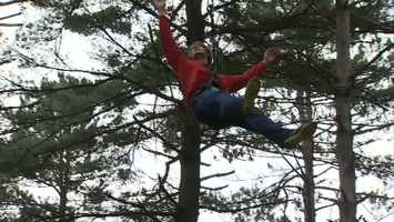 """The """"Go Ape"""" outdoor course at North Park has ziplines, Tarzan swings and a series of ropes, ladders, bridges, swings and trapezes."""