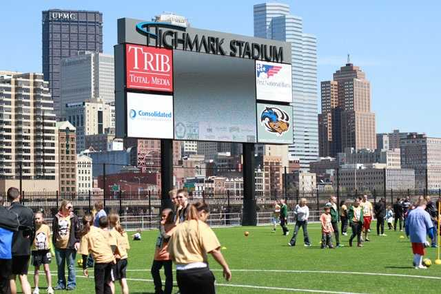Check out the view from Highmark Stadium at Station Square.