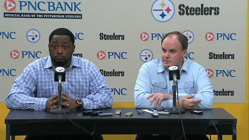 Steelers head coach Mike Tomlin and general manager Kevin Colbert