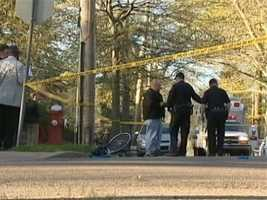 Police said the boy was riding his bike -- with a parent and a sibling also on their bikes in front of him -- but that the driver didn't see him while turning from Reynolds Street onto South Lexington Avenue, pinning him under her SUV.