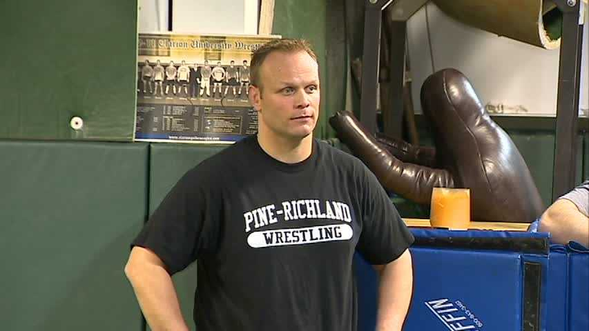 """Pine-Richland High School wrestling coach and special education teacher Ben Rings was recognized as an """"amazing educator"""" by People magazine. He teamed up his wrestlers with special needs students through the Best Buddies program and helped build bonds between the students."""