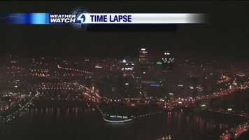 Here's how downtown Pittsburgh looked late Thursday night.