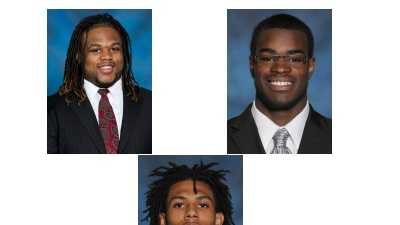 Clockwise from top left: Khaynin Mosley-Smith, Eric Williams, Drew Carswell