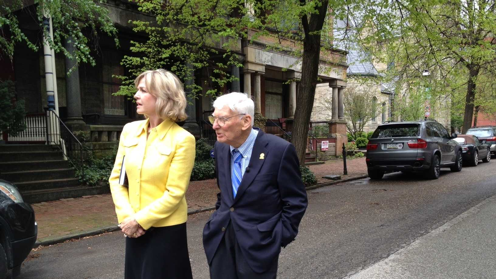 Sally Wiggin and Dan Rooney take a walking tour of Pittsburgh's North Side, in the former area of Allegheny City.