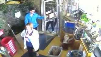 Surveillance video image from Seahorse pet store on Route 8.