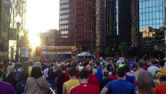 Action News' Andrew DelGrecco captured the opening of the Pittsburgh Marathon with the National Anthem.