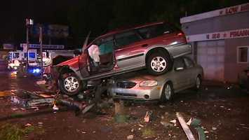 The crash happened near the corner of Saw Mill Run Boulevard and Whited Street.