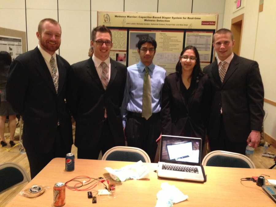 The Wetness Warrior team developed a prototype for a diaper with sensors that notify a caregiver when the diaper is soiled. The intent is to prevent diaper rash.