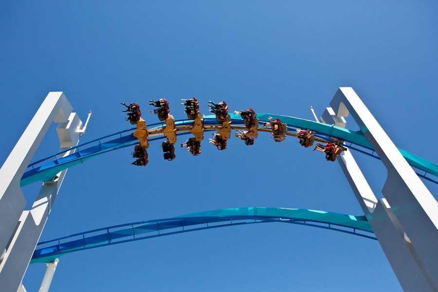 The winged roller coaster calledGateKeeper.