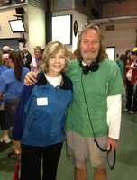 Sally Wiggin with Sean McDowell from WDVE.