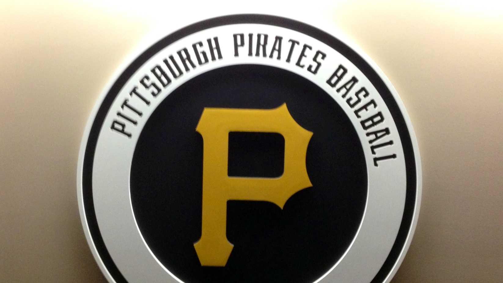 The Pittsburgh Pirates locker room