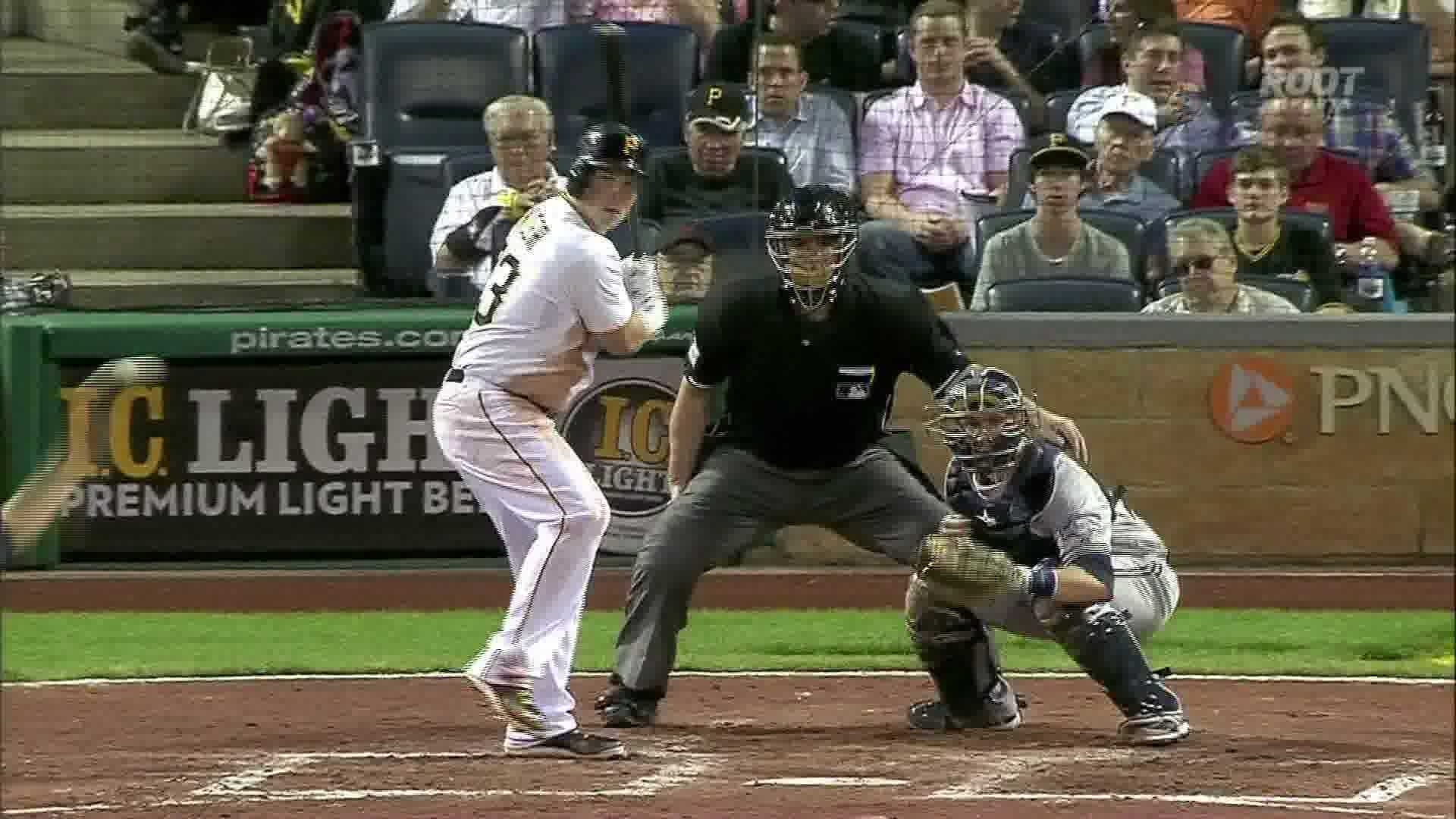 Travis Snider hits his first home run in 9 months in the Pirates' victory over the Milwaukee Brewers.