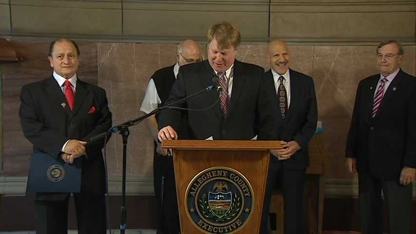 Sammartino, of Ross Township, was recognized by Allegheny County Chief Executive Rich Fitzgerald at the grand staircase in the county courthouse.
