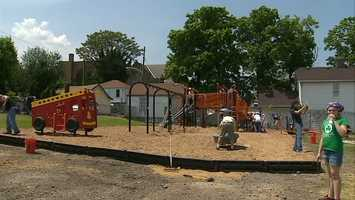 The new playground will provide more than 500 children with a new place to play in the heart of Clairton's residential area.