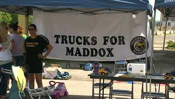 Trucks for Maddox collected 98 toy truck donations.
