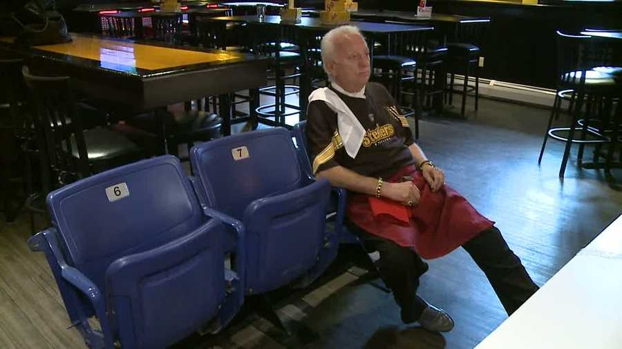 Now, he sits in a chair from Three Rivers Stadium and marvels at the fact that the place that went up in smoke has turned out to be better than he could ever imagine.