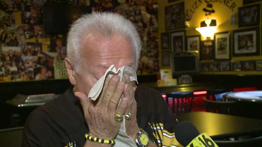Cuz was overwhelmed with emotion from the generosity of Steelers fans who helped him start over again.