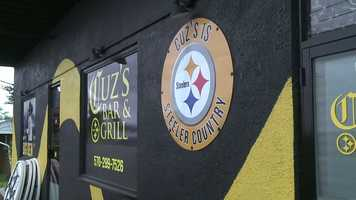 Once again, all football fans know that Cuz's is Steeler Country. Let's take a look inside the new place.