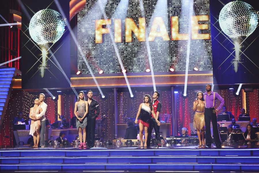 """In a final element of the competition, the remaining couples performed a new routine in an """"Instant Dance"""" - where they tackled a style they knew, but to music given to them for the first time live on television. This routine was scored out of 30 and rounded out the judges' scores across both nights, on the two-hour Season Finale of """"Dancing with the Stars the Results Show,"""" (ABC/Adam Taylor)"""
