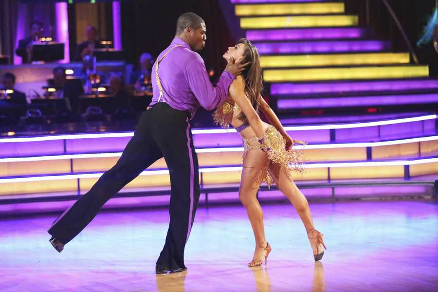 """JACOBY & KARINA - In a final element of the competition, the three remaining couples performed a new routine in an """"Instant Dance"""" - where they tackled a style they knew, but to music given to them for the first time live on television. This routine was scored out of 30 and rounded out the judges' scores across both nights, on the two-hour Season Finale of """"Dancing with the Stars the Results Show,"""" (ABC/Adam Taylor)"""
