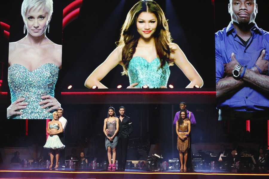 """In a final element of the competition, the three remaining couples performed a new routine in an """"Instant Dance"""" - where they tackled a style they knew, but to music given to them for the first time live on television. This routine was scored out of 30 and rounded out the judges' scores across both nights, on the two-hour Season Finale of """"Dancing with the Stars the Results Show,"""" (ABC/Adam Taylor"""