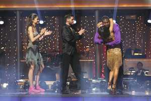 "In a final element of the competition, the three remaining couples performed a new routine in an ""Instant Dance"" - where they tackled a style they knew, but to music given to them for the first time live on television. This routine was scored out of 30 and rounded out the judges' scores across both nights, on the two-hour Season Finale of ""Dancing with the Stars the Results Show,"" (ABC/Adam Taylor)"