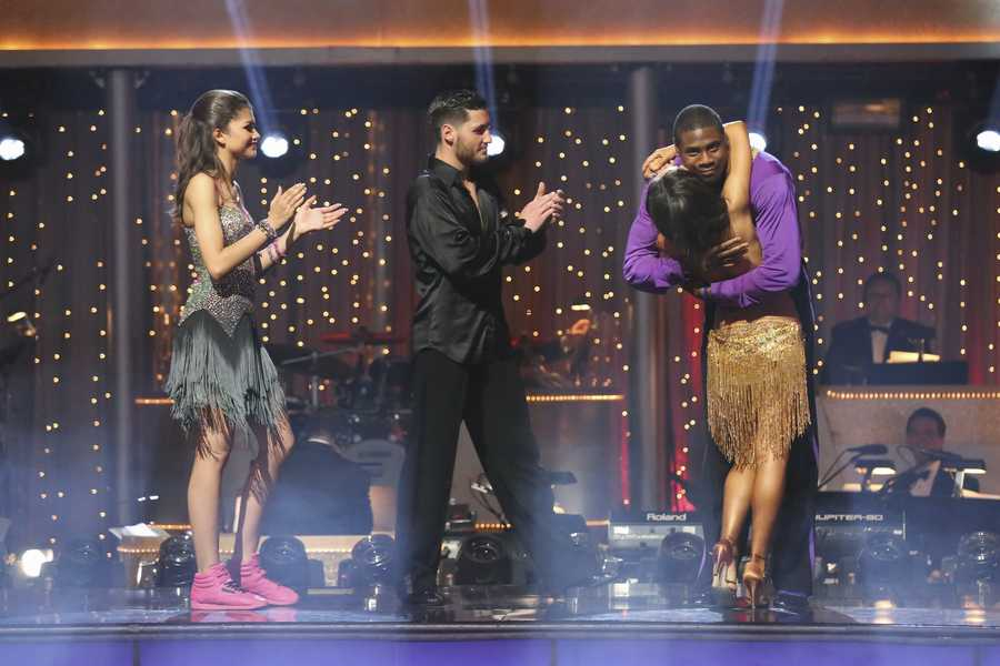 """In a final element of the competition, the three remaining couples performed a new routine in an """"Instant Dance"""" - where they tackled a style they knew, but to music given to them for the first time live on television. This routine was scored out of 30 and rounded out the judges' scores across both nights, on the two-hour Season Finale of """"Dancing with the Stars the Results Show,"""" (ABC/Adam Taylor)"""