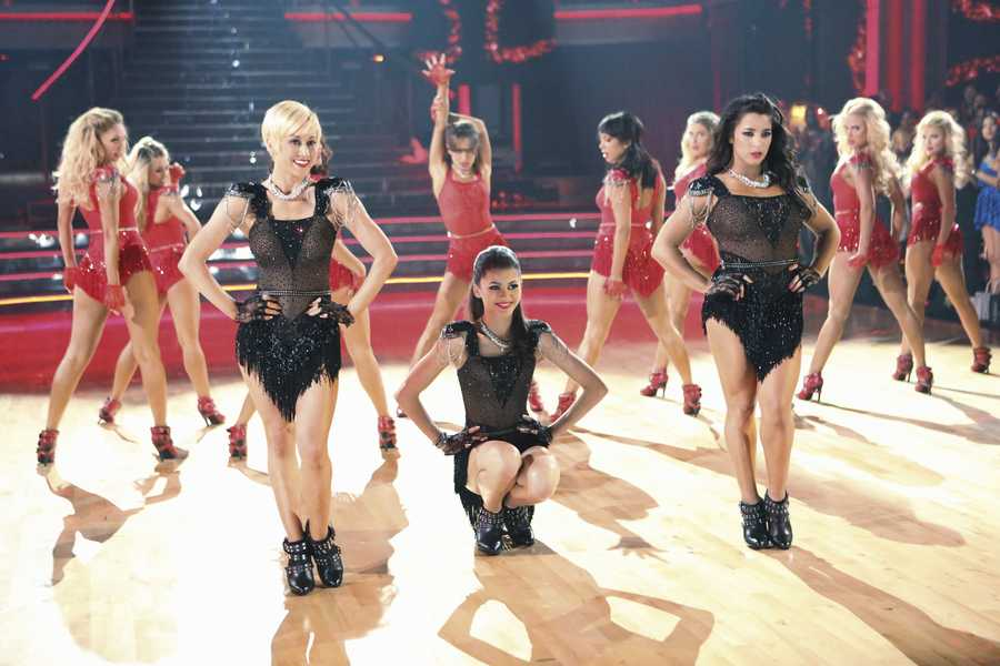 """KELLIE, ZANADYA, & ALY - The returning stars performed a show-stopping opening number with the pro and troupe dancers, on the two-hour Season Finale of """"Dancing with the Stars the Results Show,"""". (ABC/Adam Taylor)"""