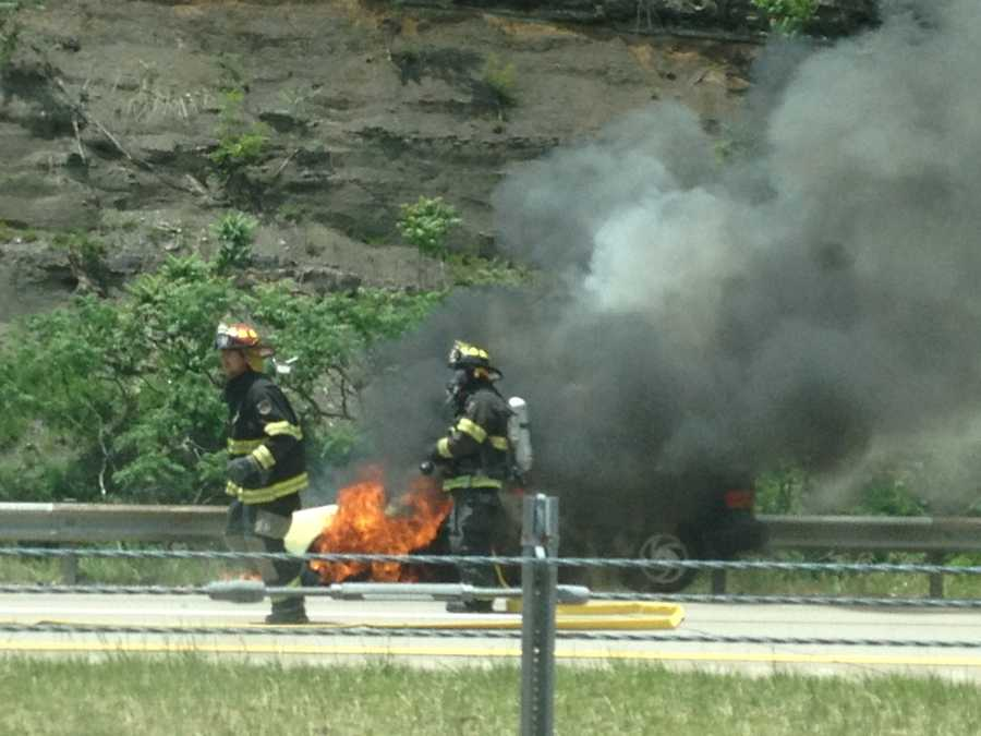 The inbound lanes of Route 28 near Tarentum were shut down because of a car fire on Thursday afternoon.You can always share breaking news photos on the u local page on WTAE.com or email them to ulocal@wtae.com.