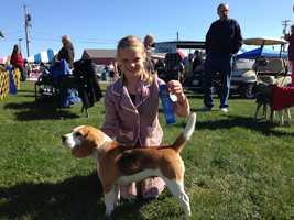 A young winner: Heidi Johnston is a junior handler who won her class!
