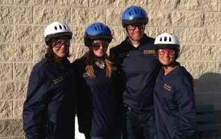 Michelle, Ashlie, Andrew and Marcie in their gear.