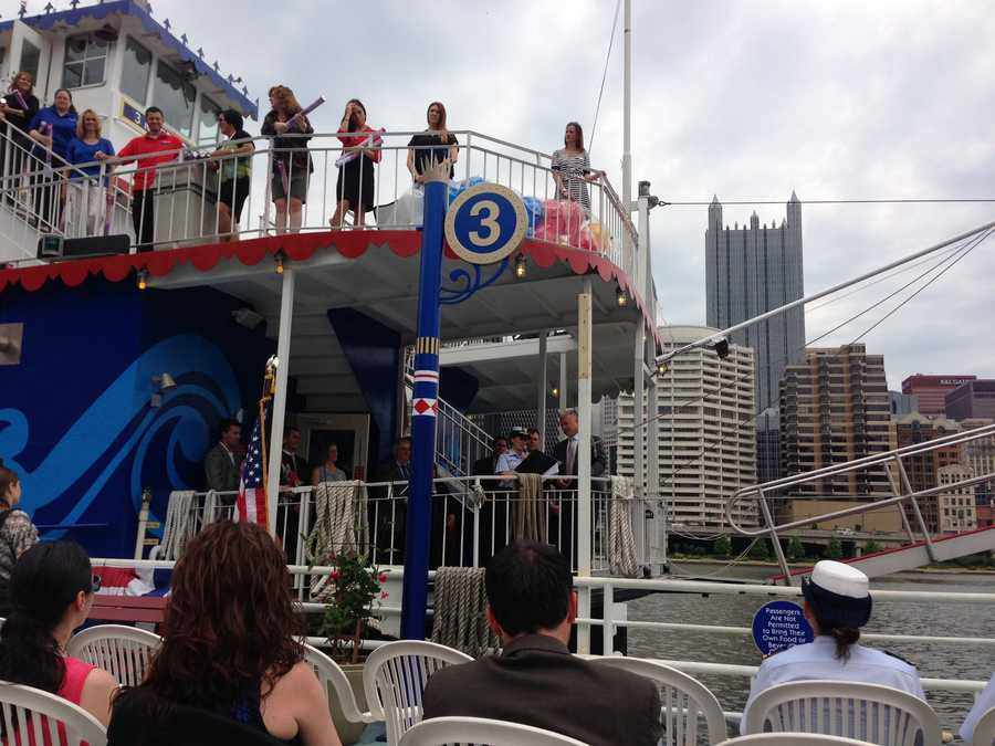A new boat in the Gateway Clipper Fleet took its maiden voyage on Wednesday morning.