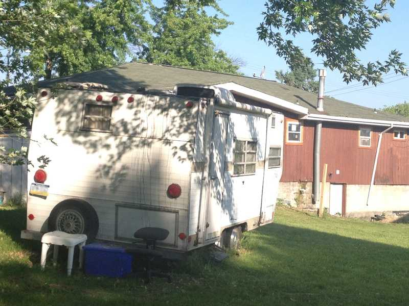 West Deer police said the suspect was in this trailer behind the house.