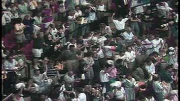 In 1991, Pittsburgh fans blew the roof off the Civic Arena (figuratively speaking)when the Penguins beat the Bruins.