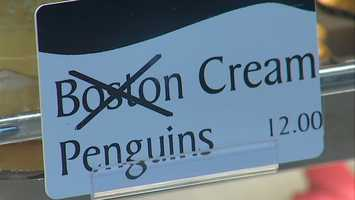 Boston Cream cakes are not allowed at the Oakmont Bakery while the Penguins are playing the Bruins.