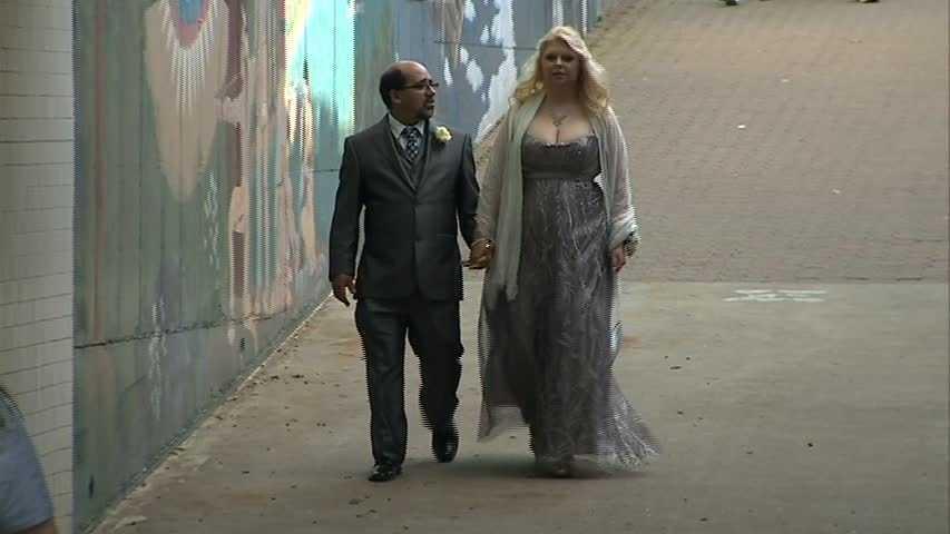"Karl McCrum accompanies Tanya Kach to a ""second chance"" prom at the Gateway Clipper Fleet."