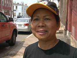 Cambod-Ican Kitchen co-owner Moeun McSwiggen helped Adams inside her restaurant until an ambulance arrived.