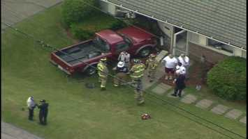 Township building code official Dennis Shack told North Hills Patch that the driver was trying to pop the clutch while rolling down his driveway in the 4900 block of Lucerne Avenue.