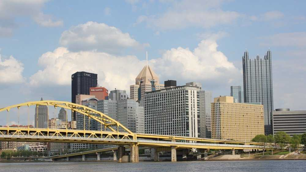 view of Pittsburgh from North Shore
