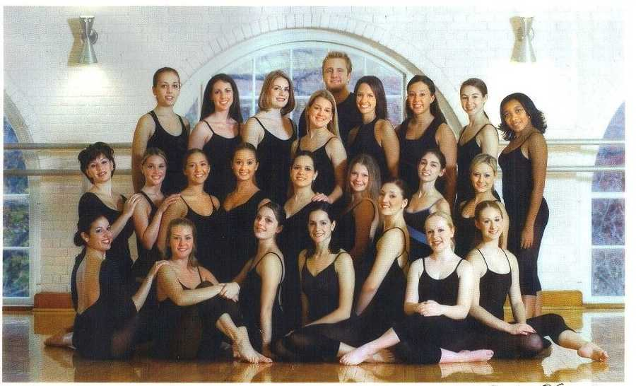 #8 - Jackie attended West Virginia University on a 4-year dance scholarship, with the university's Dance company, Orchesis.