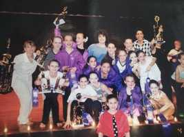 #3 - She spent much of her childhood like the girls in the TV show Dance Moms – in the studio all week and at competitions on the weekends.  This was her competition group at Rogers School of Dance in Murrysville.